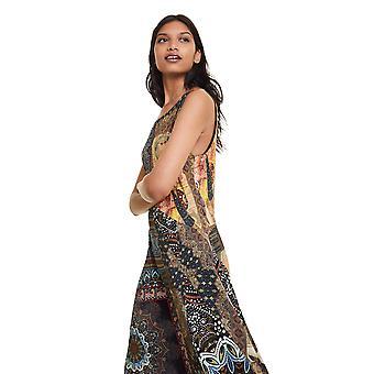 Desigual vrouwen ' s ilena mouwloos lange etnische jurk