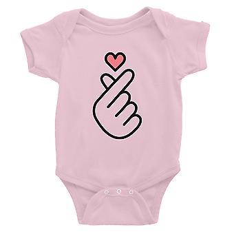 365 painaminen sormi sydän vauva Body lahja vaaleanpunainen vauvan tyttö vauva Jumpsuit