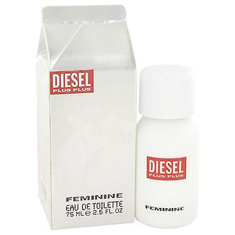 Diesel plus plus eau de toilette spray by diesel 404402 75 ml