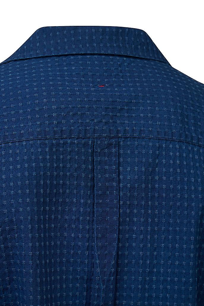 Hymn Frisbee Textured Indigo Resort Shirt Indigo
