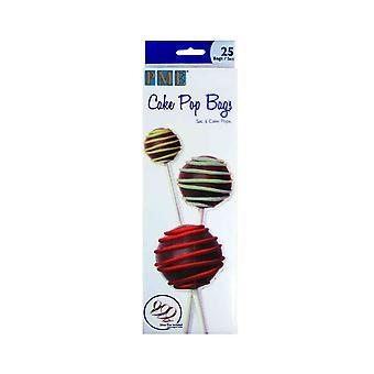 PME cake pop tassen met zilveren banden 25 Pack
