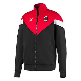 2019-2020 AC Milan Puma Iconic MCS Track Jacket (Schwarz)