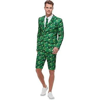 Tropical Palm Tree Suit Adult Green