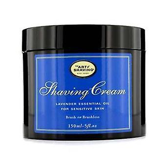 El arte de afeitar crema - aceite esencial de lavanda (para piel sensible) - 150ml/5oz