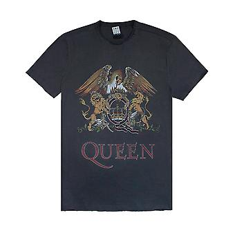 Amplificata Queen Coral Crest Charcoal Mens Band T-Shirt T-Shirt