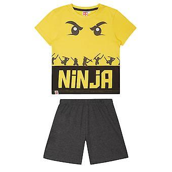 Lego Ninjago Ninja Sarı Erkek Çocuk Kısa Pijama Seti