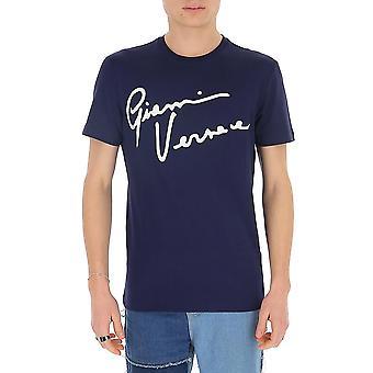 Versace A85162a228806a2319 Men's Blue Cotton T-shirt