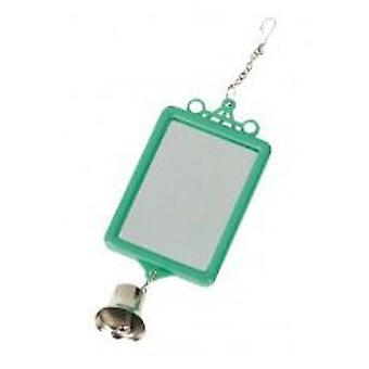 Yagu Mirror Square with Bell Blister (Birds , Bird Cage Accessories , Mirrors)