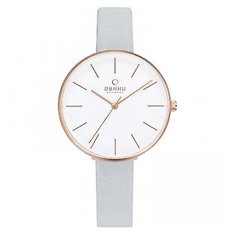 Obaku Mynte Dove Women's Misty Blue Strap Wristwatch V211LXVIRL