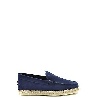 Tod's Ezbc025080 Men's Blue Suede Loafers