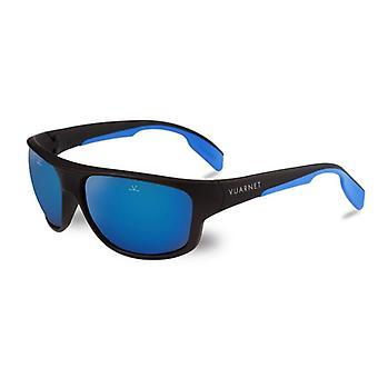 Vuarnet Racing 1402 Zwarte Mat Pure Grey Blue Flash
