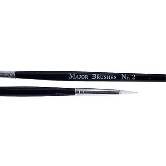 Major Brushes Synthetic Sable Brushes(size 2) - Pack of 10