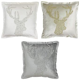 Riva Paoletti Wonderland Stag Christmas Cushion Cover