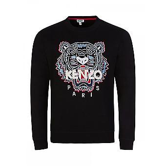 Kenzo Classic Tiger Embroided Logo Black Sweatshirt