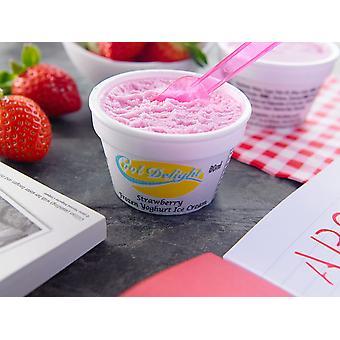 Cooldelight Strawberry Yogurt Ice Cream Insulated Cups