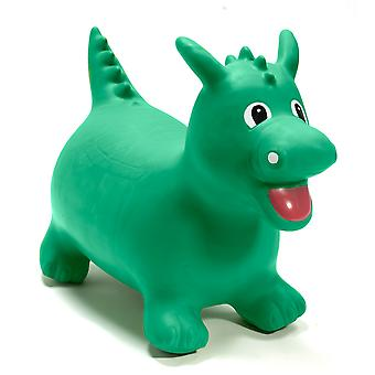 Happy Hopperz Inflatable Bouncy Ride On Toys - Green Dino