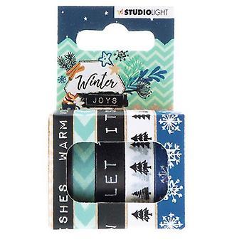 Studio Light Washi tejp 5 rls 5 mtr Tape Winter Joys nr 05 WASHIWJ05 (10-19)