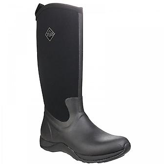 Muck Boots Dames Arctic Adventure Black Pull On Fleece Lined Wellington Boots