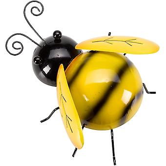 Garden Outdoor Large Bumblebee Metal Wall Art Weather-Resistant Hanging D�cor