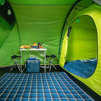 regatta 4 persons backpacking tunnel tent alpine green waterproof and fireproof