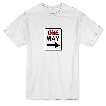 Una forma de mi forma de firmar camiseta de moda de los hombres gráfico