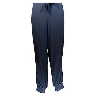 Anybody Women's Cozy Knit Jogger Pants w/ Tie Waistband Blue A372089