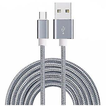 OnePlus 6 Type-C Gray 2M USB Fast Charger Braided Cable