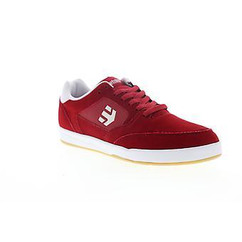 Etnies Veer Mens Red Suede Low Top Lace Up Skate Sneakers Shoes