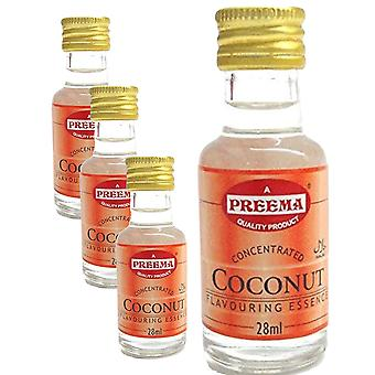 4 x 28ml Coconut Essence Baking Aroma Flavour Concentrated Cakes Cookies