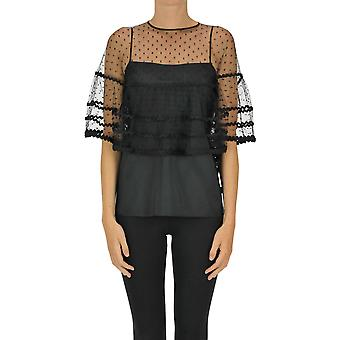 Red Valentino Ezgl003051 Women's Black Polyester Top