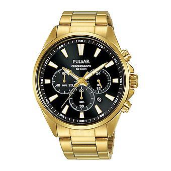Pulsar PT3A40X1 Men's Gold Tone Chronograph Wristwatch