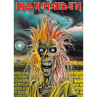 Iron Maiden Poster Textile Flag Eddie Band Logo Official New Black 70cm x 106cm