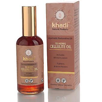 Khadi Body olje 10 urter: anti-cellulitt 100 ml