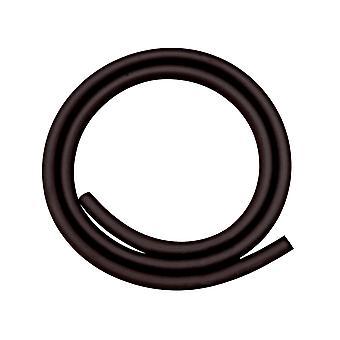 Black Rubber Tube 1 Metre, For Mouth Blown Torch, Sold Per Metre