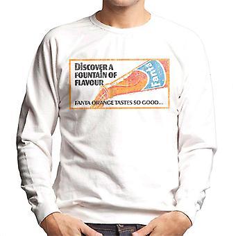 Fanta Fountain of sabor década de 1960 poster camisola dos homens