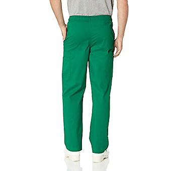 Essentials Menăs Quick-Dry Stretch Scrub Pant, Forest Green, Large