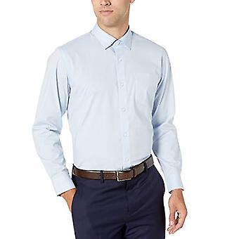 "Essentials Men's Regular-Fit Ryppyjenkestävä Stretch Dress Shirt, Vaaleansininen, 18"" Kaula 34""-35"" Hiha"