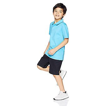 Essentials Big Boys' Flat Front Uniform Chino Short, Nero,14