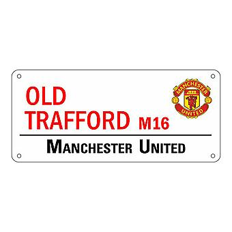 Manchester United FC Official Old Trafford Steel Street Sign