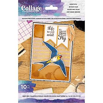 Crafter's Companion Born to Fly Clear Stamps