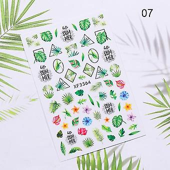 Nail Sticker Flower Blade Slider Transfer Nail klistermærker til Manicure Art Transfer Sticker Nail Art Dekoration