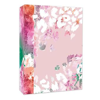 Pink Floral Design Photo Album Holds 80 Photos 4x6