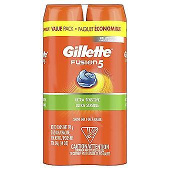 Gillette Fusion Hydra Gel Ultra Sensitive Shave Gel 2 Pack (OVERSTOCK PRODEJ)