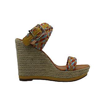 Madden Girl Women's NARLA Espadrille Wedge Sandal, Yellow/Multi, 8 M US