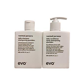 evo Normal Persons Daily Shampoo & Conditioner Set 10.1 OZ Each