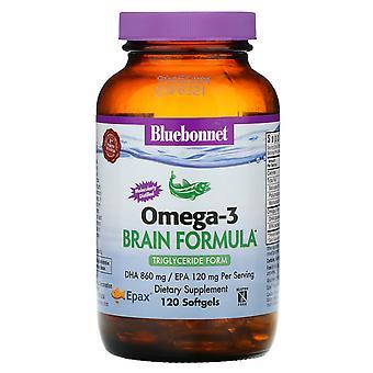 Bluebonnet Nutrition, Naturel Oméga-3, Formule cérébrale, 120 Softgels