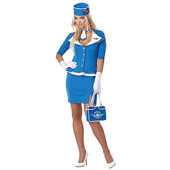 Assistente di volo hostess retrò Air Hostess 1950s 60s 70s Womens Costume