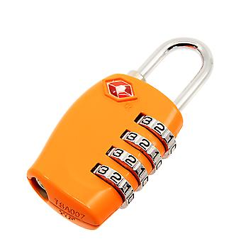 TRIXES 4-Dial TSA Combination Padlock for Luggage Suitcases and Travel Orange