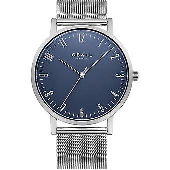Obaku Brink Cyan Men-apos;s Blue Dial Wristwatch V248GXCLMC