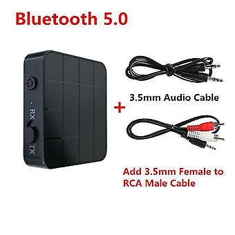 Bluetooth 5.0 4.2 Audio Receiver Transmitter  3.5mm 3.5 Aux Jack Rca Stereo Music Wireless Adapter For Tv Pc Car Speakers